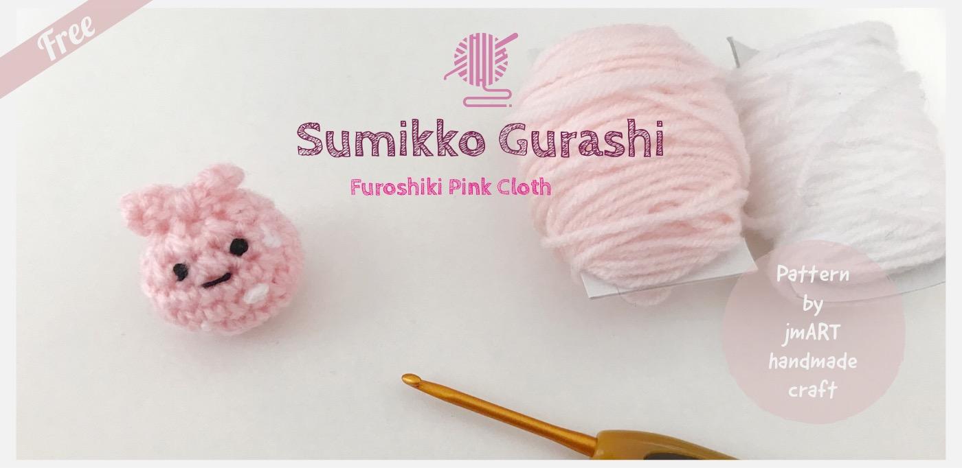Minniko Furoshiki Pink Cloth Free Crochet Pattern Banner